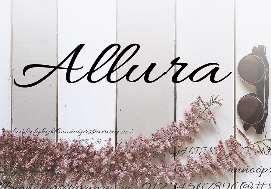 Darmowy font Allura-Regular