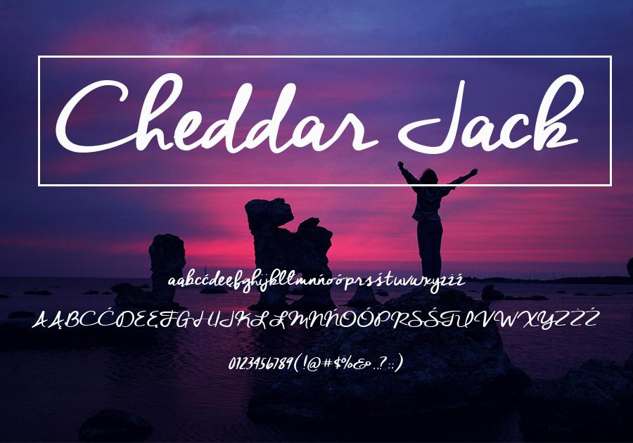 Czcionka Cheddar Jack - darmowa dla użytku prywatnego
