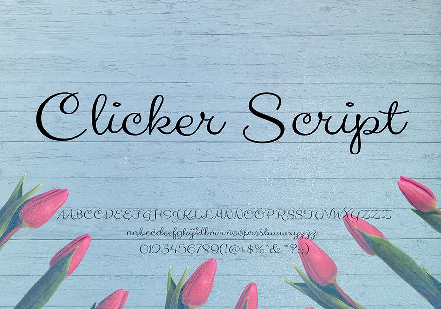Font Clicker Script - darmowy dla użytku prywatnego