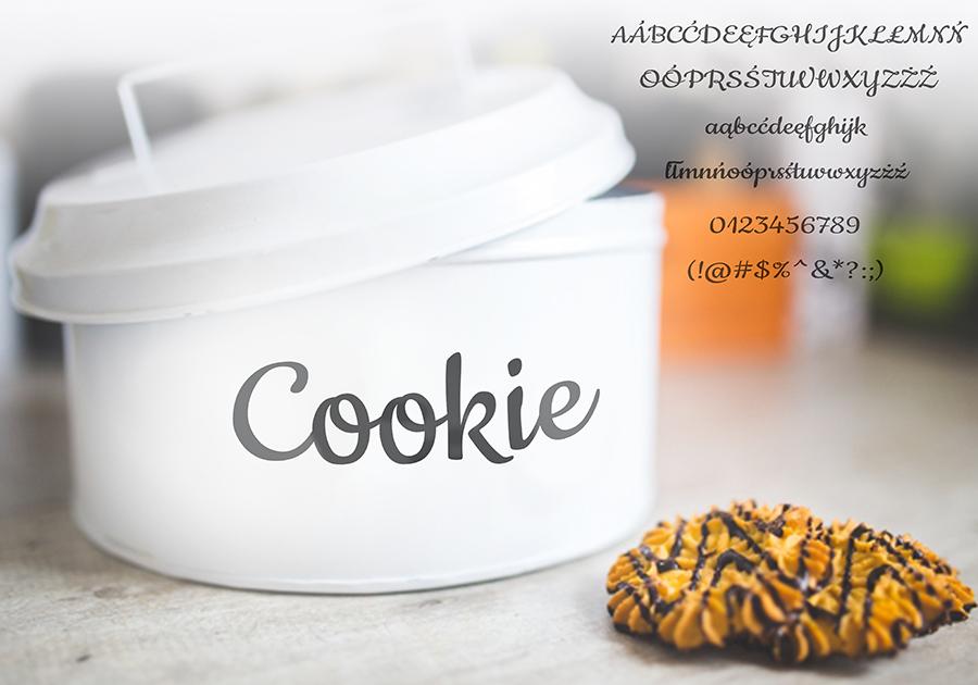 Darmowy font Cookie-Regular