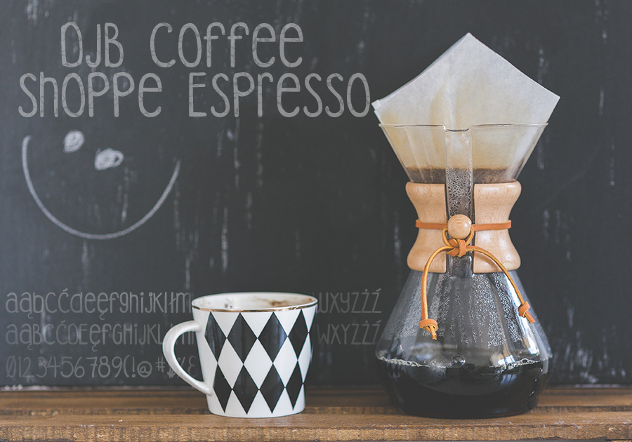 Czcionka DJB Coffee Shoppe Espresso41