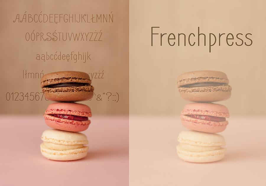 Frenchpress freefont - font darmowy dla użytku prywatnego i komercyjnego
