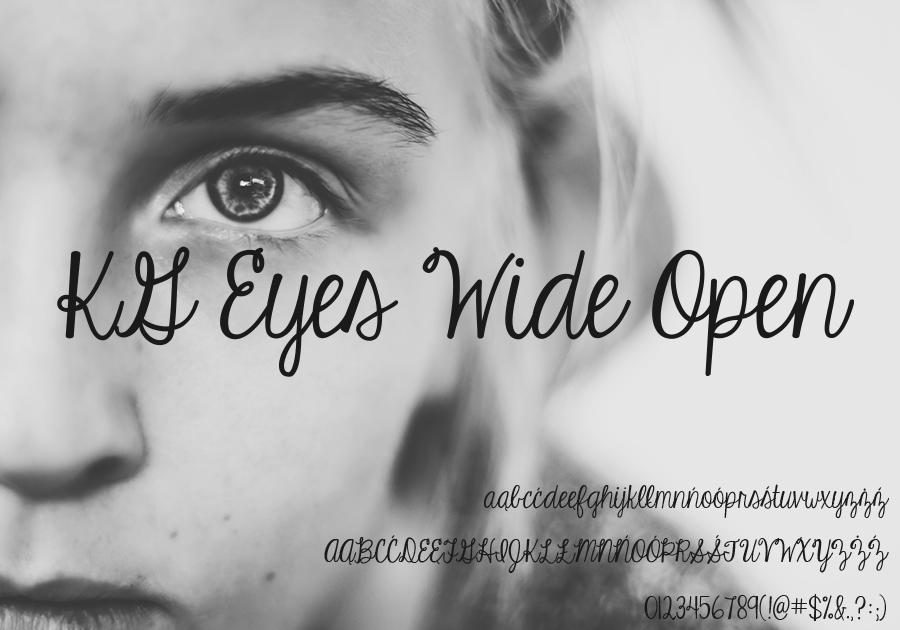 Darmowa czcionka KG Eyes Wide Open34 do użytku prywatnego