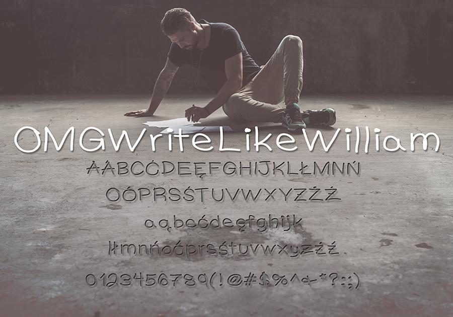 Darmowa czcionka OMGWriteLikeWilliam