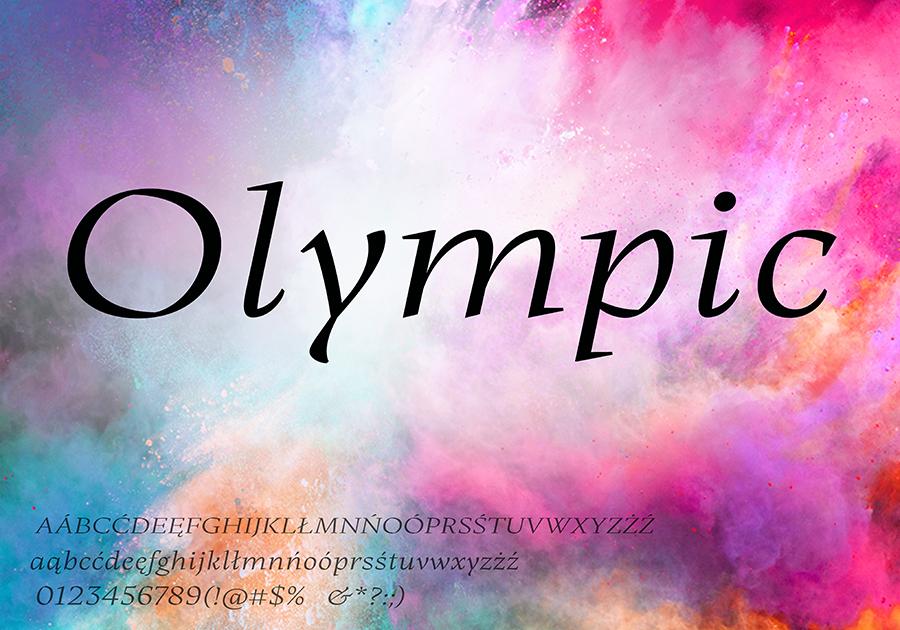 Olympic-Light - darmowa czcionka