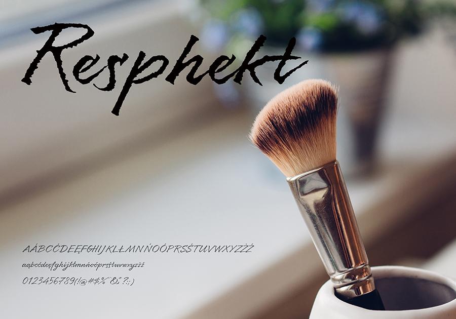 Darmowy font Resphekt-Regular