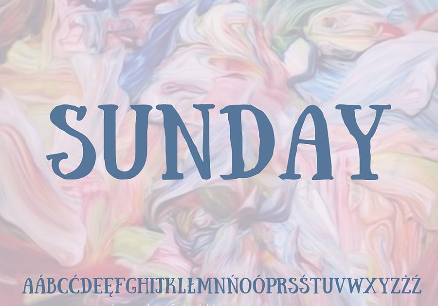 Darmowa czcionka Sunday