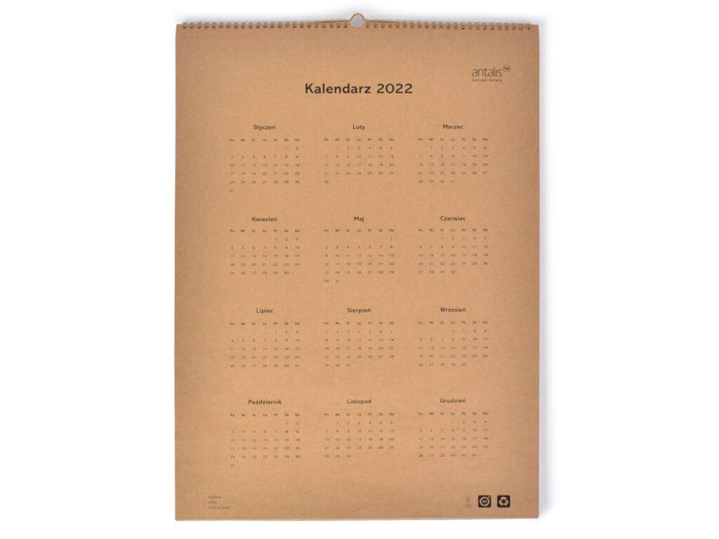 kalendarze z eko papieru