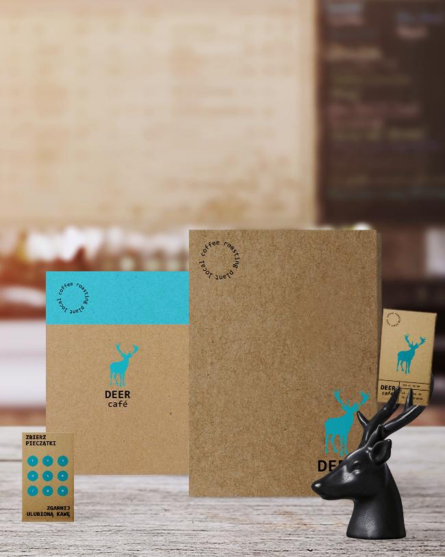 drukowane materiały reklamowe dla kawiarni