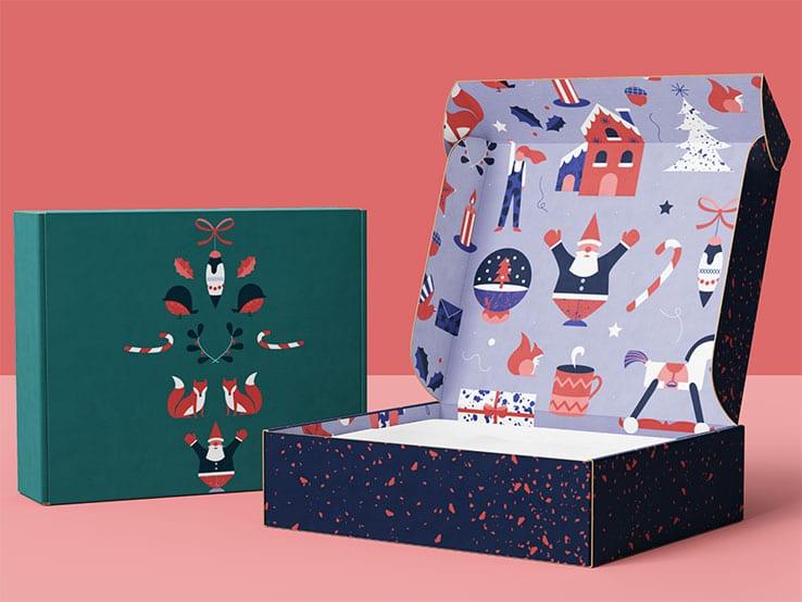 pudełko fasonowe kolor