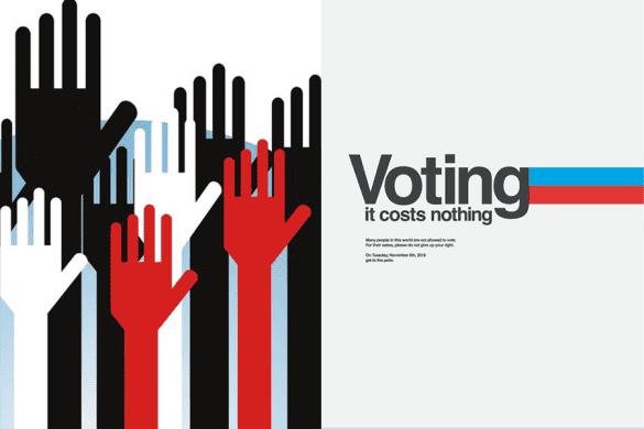 wybory plakaty