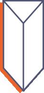 Prezentery trójkątne z paskiem klejowym