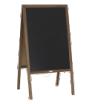 potykacz drewniany z tablicą kredową - bez zadruku