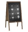 potykacz drewniany z tablicą kredową - z zadrukiem