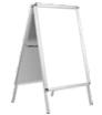 potykacz dwustronny z profili aluminiowych - bez zadruku