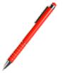 długopis metalowy z touch pen i zdobieniami na korpusie