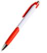 długopis plastikowy z kolorowymi elementami