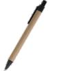 długopis tekturowy z kolorowym klipsem