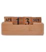 kalendarz wieczny drewniany na biurko