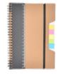 notes A5 z linijką i karteczkami samoprzylepnymi