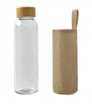 butelka szklana w etui z juty 500 ml